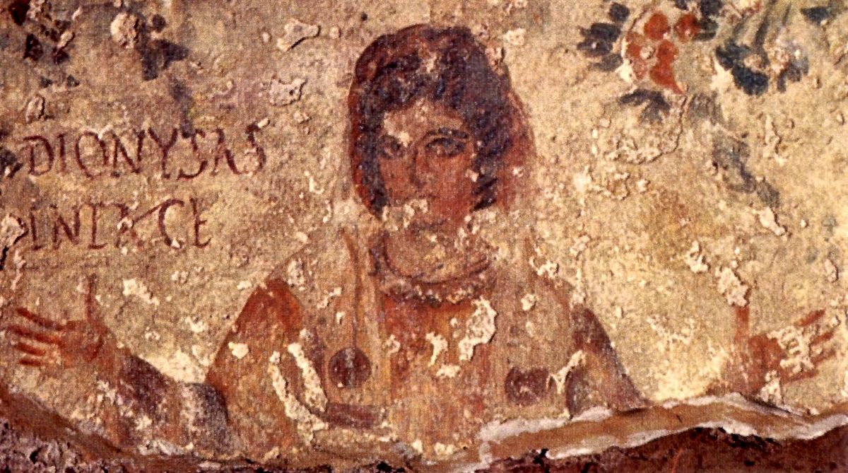 Оранта в катакомбах Рима